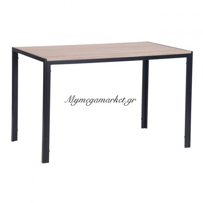 Gabo Τραπέζι 120X70Cm Sonoma/βαφή Μαύρη | Mymegamarket.gr