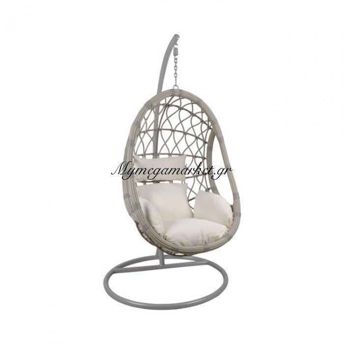 Macan Κρεμαστή Πολυθ.steel Grey/wicker Grey/μαξ.άσπρο | Mymegamarket.gr