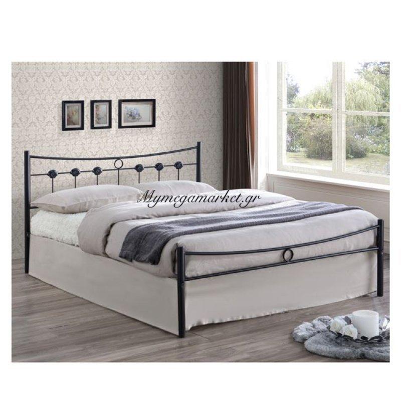 Dugan Κρεβάτι Διπλό 140X190Cm Μεταλ.σφυρήλατο Μαύρο Στην κατηγορία Κρεβάτια ξύλινα - Μεταλλικά | Mymegamarket.gr