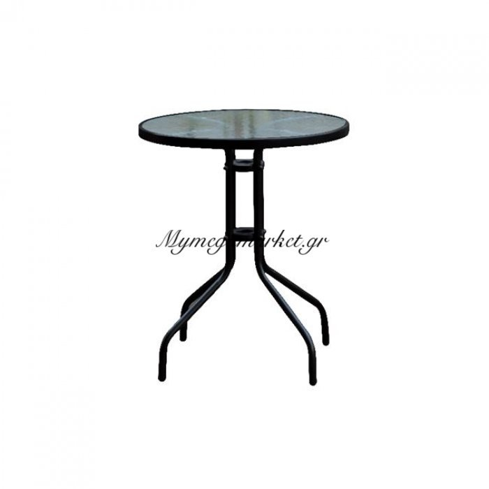 Baleno Τραπέζι Φ60Cm Μεταλλικό Μαύρο | Mymegamarket.gr
