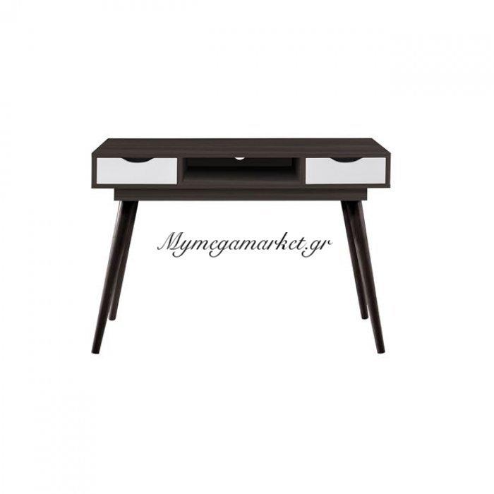 Alida Γραφείο/κονσόλα 110X50X79 Καρυδί/άσπρο | Mymegamarket.gr