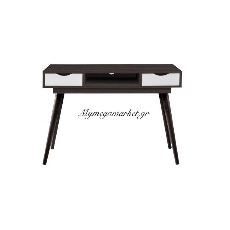 Alida Γραφείο/κονσόλα 110X50X79 Καρυδί/άσπρο Στην κατηγορία Κονσόλες - Τουαλέτες | Mymegamarket.gr