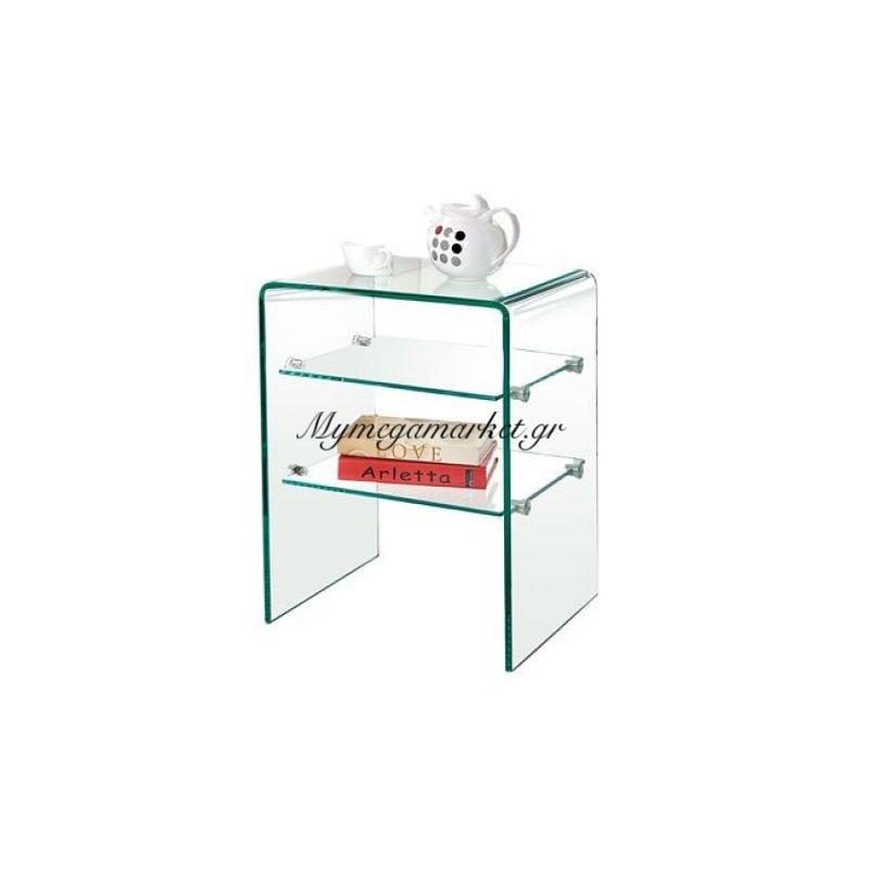 Glasser Clear Ραφιέρα 50X40X58Cm Γυαλί 12Mm Στην κατηγορία Βιβλιοθήκες - Ραφιέρες | Mymegamarket.gr