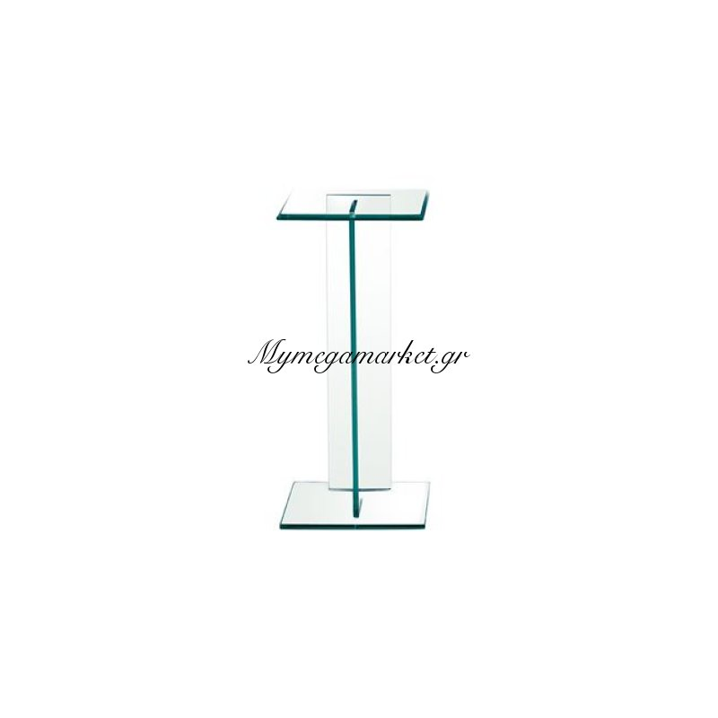 Glasser Clear Διακοσμητική Στήλη 25X25X56Cm Γυαλί 10Mm Στην κατηγορία Βοηθητικά τραπεζάκια σαλονιού | Mymegamarket.gr