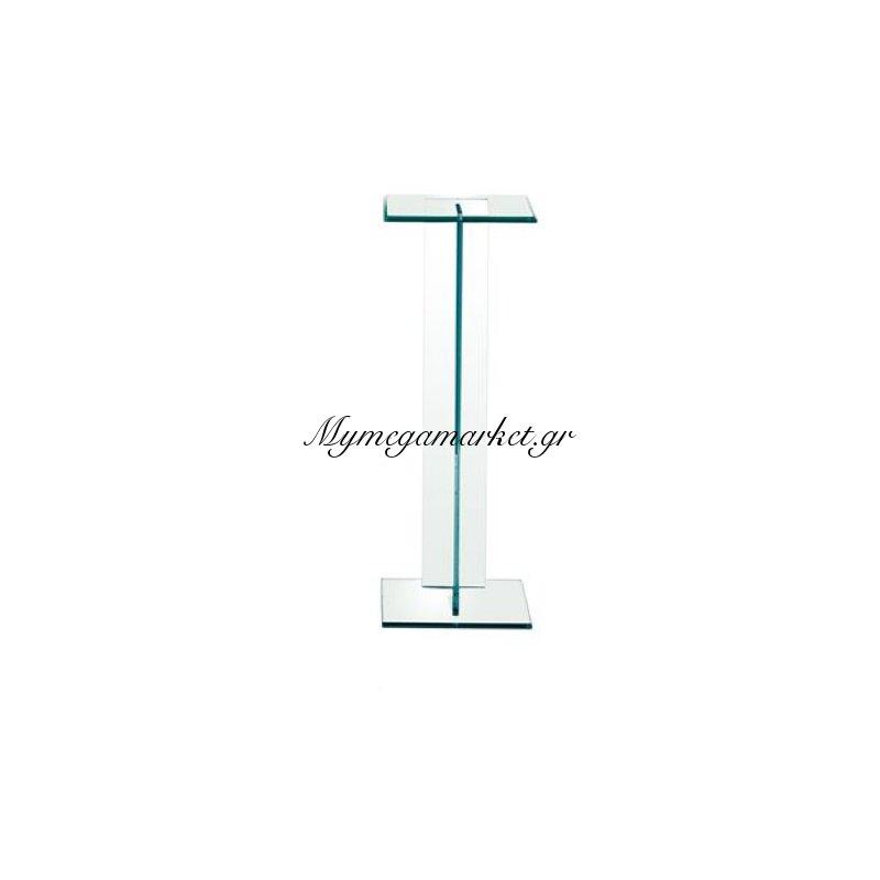 Glasser Clear Διακοσμητική Στήλη 25X25X71Cm Γυαλί 10Mm Στην κατηγορία Βοηθητικά τραπεζάκια σαλονιού   Mymegamarket.gr