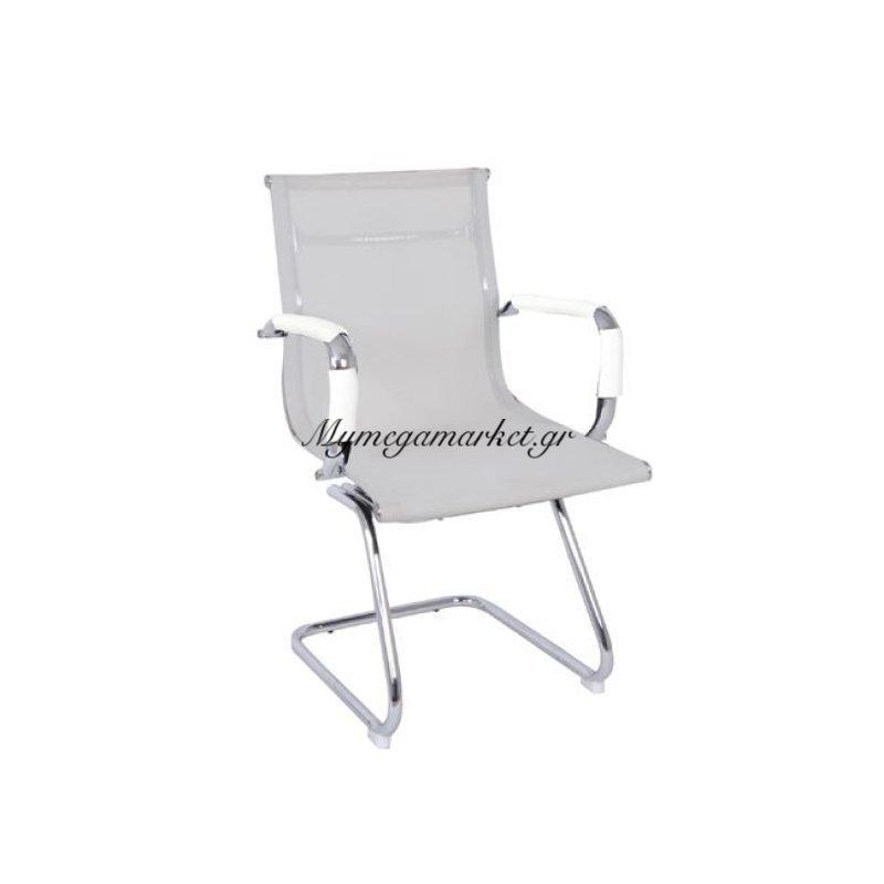 Bf3200V Πολυθρόνα επισκέπτη Λευκό Mesh Στην κατηγορία Καρέκλες - Πολυθρόνες γραφείου | Mymegamarket.gr