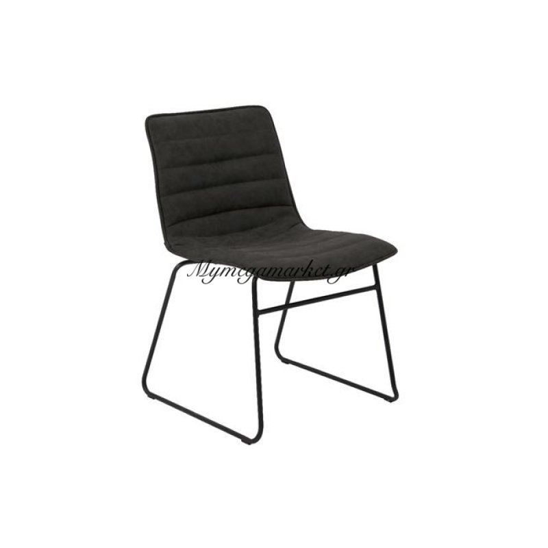 Connel Καρέκλα Μεταλλική μαύρη/pu Vintage Black Στην κατηγορία Καρέκλες εσωτερικού χώρου | Mymegamarket.gr