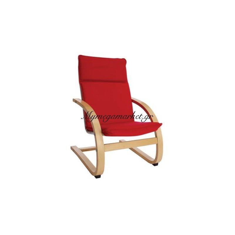 Kid-Hamilton Παιδική Πολυθρόνα Σημύδα/ύφασμα Κόκκινο Στην κατηγορία Πολυθρόνες σαλονιού | Mymegamarket.gr