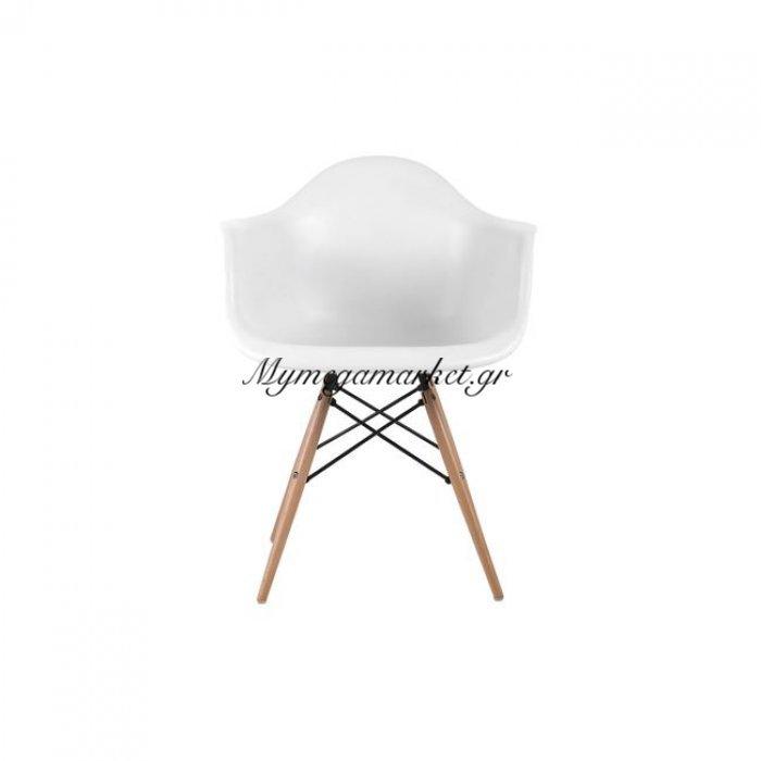 Alea Wood Πολυθρόνα Pp Λευκό | Mymegamarket.gr