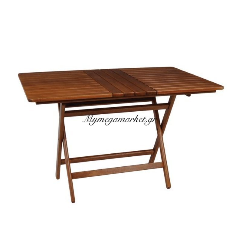 Folding Τραπέζι 80X160Cm Πτυσσόμενο, Καρυδί Οξυά Στην κατηγορία Τραπέζια κήπου   Mymegamarket.gr