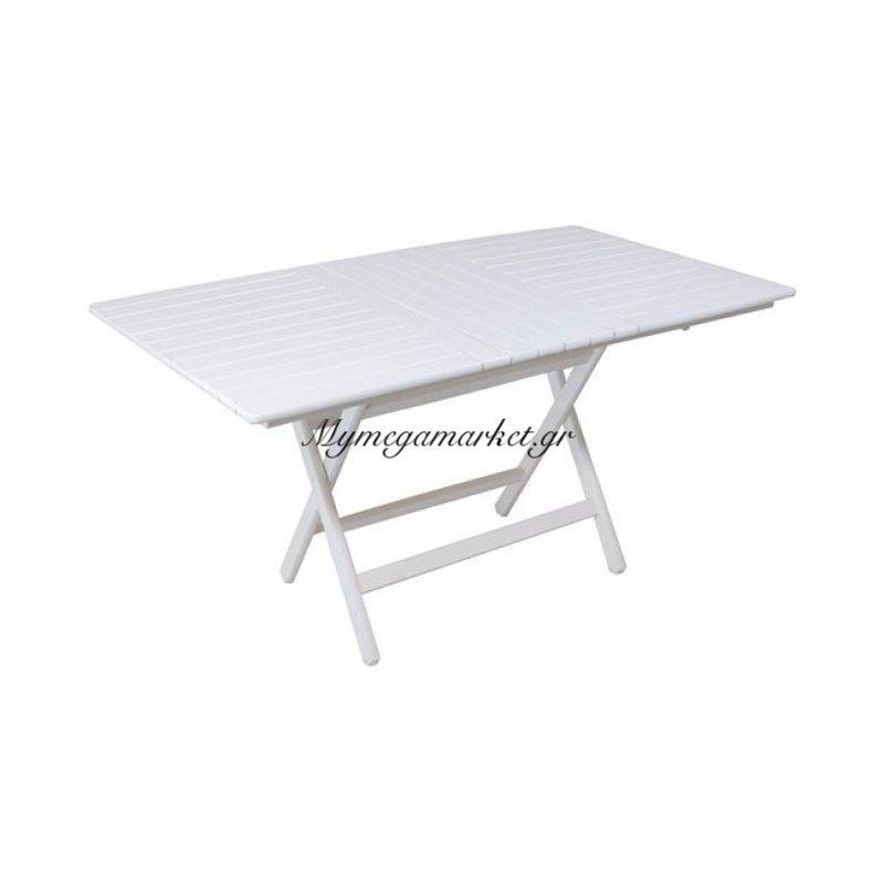 Folding Τραπέζι 80X160Cm Πτυσσόμενο, Λευκό Οξυά Στην κατηγορία Τραπέζια κήπου | Mymegamarket.gr
