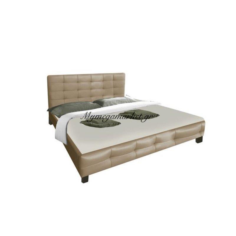 Dream Κρεβάτι 160X200Cm Pu Cappuccino Στην κατηγορία Κρεβάτια ξύλινα - Μεταλλικά | Mymegamarket.gr