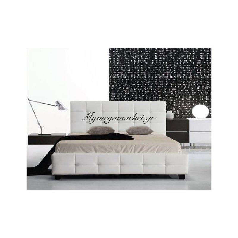 Fidel Κρεβάτι 150X200Cm Pu Άσπρο Στην κατηγορία Κρεβάτια ξύλινα - Μεταλλικά | Mymegamarket.gr