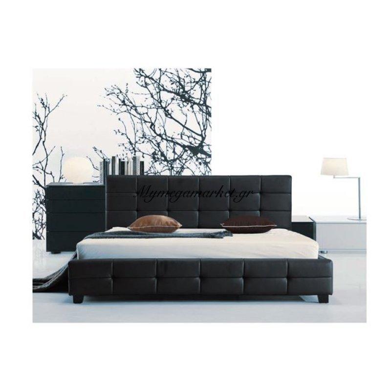 Fidel Κρεβάτι 150X200Cm Pu Μαύρο Στην κατηγορία Κρεβάτια ξύλινα - Μεταλλικά | Mymegamarket.gr