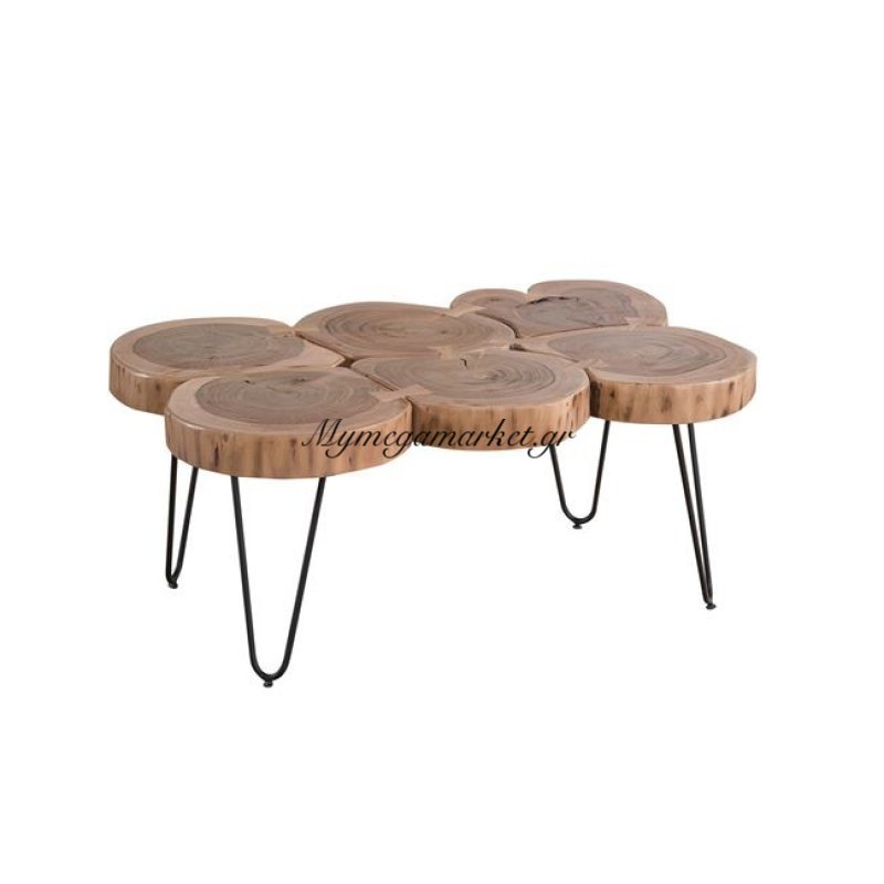 Fuego-6 Τραπέζι σαλονιού +/-90X60X40Cm Ακακία Φυσικό/μεταλ.μαύρο Στην κατηγορία Τραπέζια σαλονιού | Mymegamarket.gr