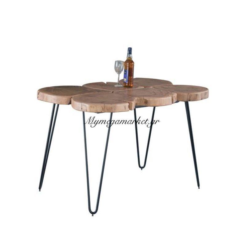 Fuego Τραπέζι 120X80X76Cm Ακακία Φυσικό/μεταλ.μαύρο Στην κατηγορία Τραπέζια - Τραπεζαρίες | Mymegamarket.gr