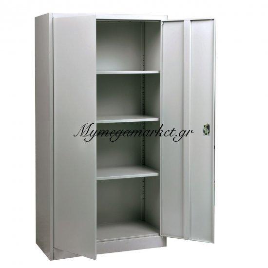 Ντουλάπα Μεταλ.(4 Ράφια) 90X40X185Cm Γκρι Στην κατηγορία Ντουλάπες μεταλλικές | Mymegamarket.gr