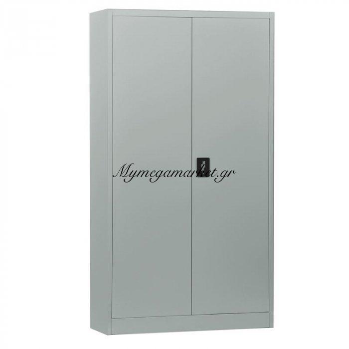 Ντουλάπα Μεταλ.(4 Ράφια) 90X40X185Cm Γκρι | Mymegamarket.gr