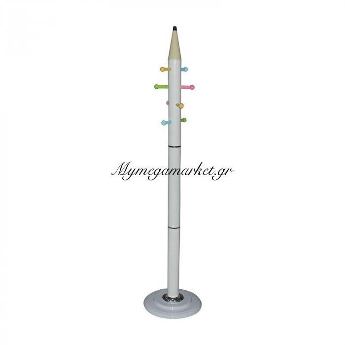 Pencil Καλόγερος Μεταλλικός Άσπρος   Mymegamarket.gr