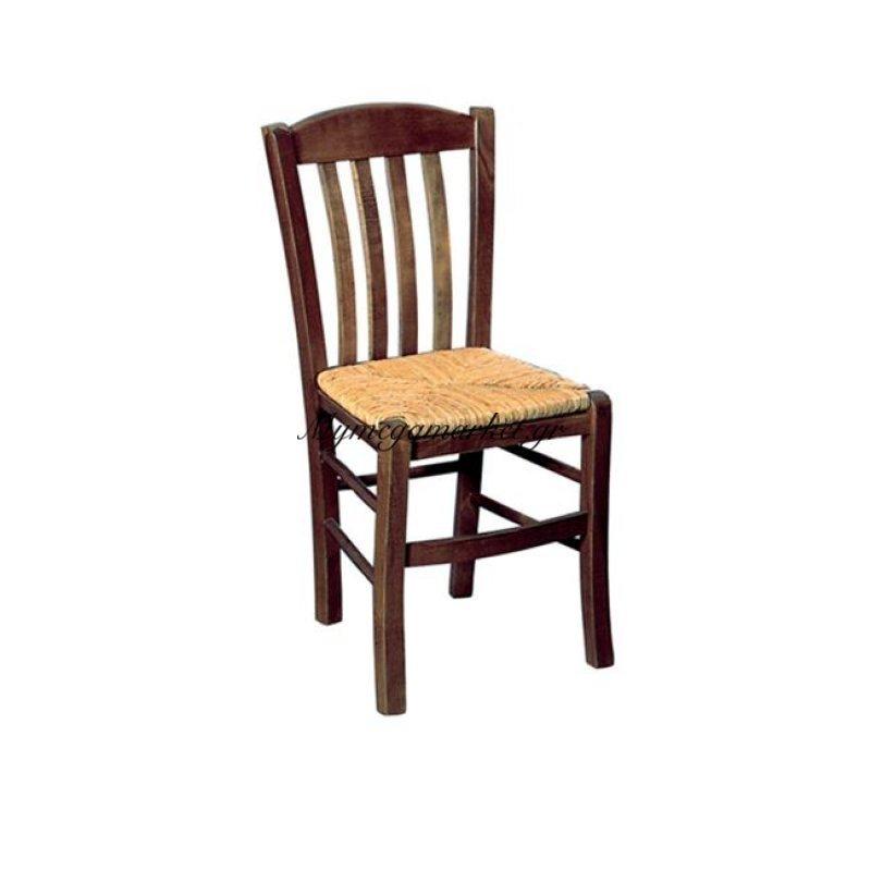 Casa Καρέκλα Ψάθα Εμποτ.καρυδί Στην κατηγορία Καρέκλες εσωτερικού χώρου | Mymegamarket.gr