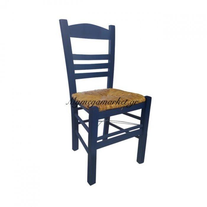 Σιφνοσ Καρέκλα Ψάθα Εμποτ.μπλε | Mymegamarket.gr