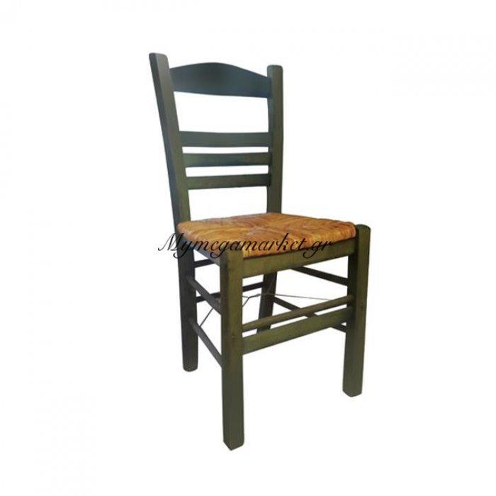 Σίφνος Καρέκλα Ψάθα Εμποτ.πράσινο | Mymegamarket.gr