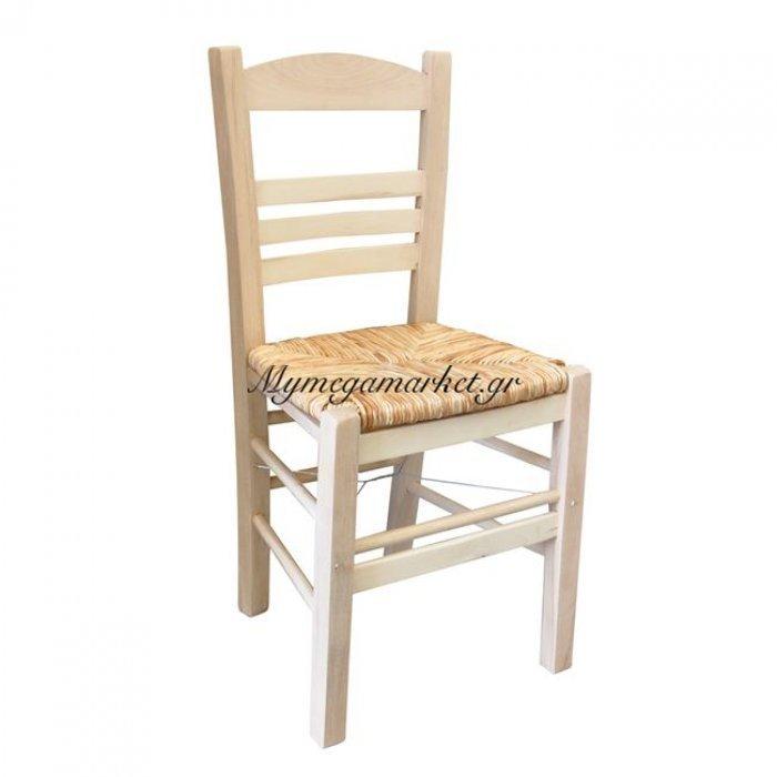Σιφνοσ Καρέκλα Άβαφη Με Ψάθα Αβίδωτη | Mymegamarket.gr