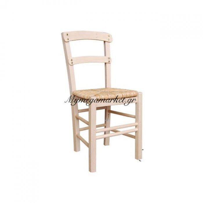 Κύθνος Καρέκλα Άβαφη Με Ψάθα Αβίδωτη | Mymegamarket.gr