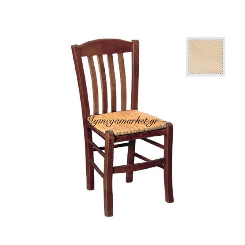 Casa Καρέκλα Άβαφη Με Ψάθα Αβίδωτη Στην κατηγορία Καρέκλες εσωτερικού χώρου | Mymegamarket.gr