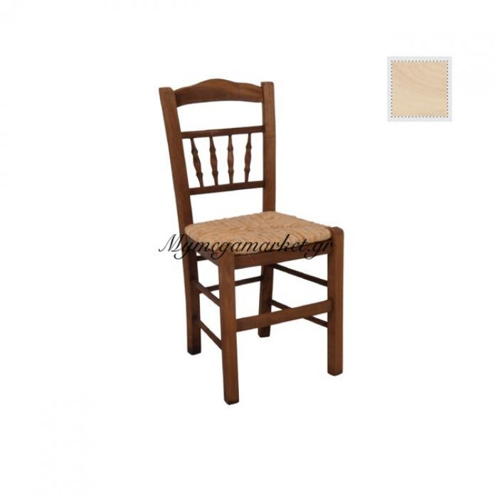 Αντικα Καρέκλα Άβαφη Με Ψάθα Αβίδωτη | Mymegamarket.gr