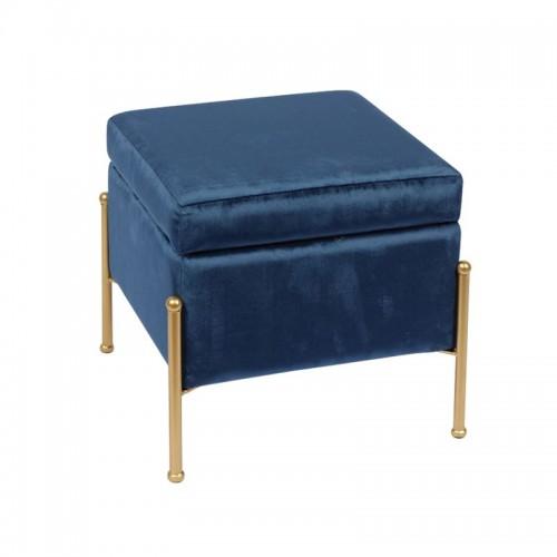 Ray Σκαμπώ Χρυσό/ύφασμα Μπλε Velure