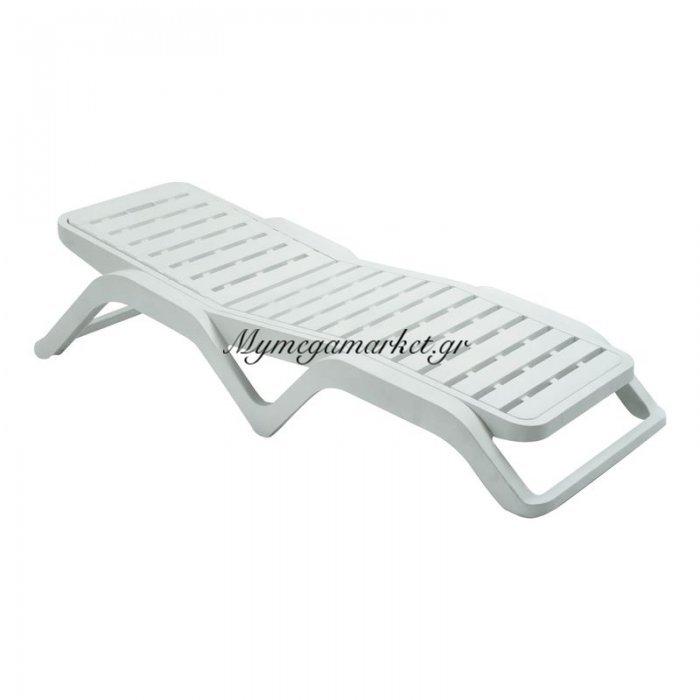 Scirocco Ξαπλώστρα Πλαστική Άσπρη | Mymegamarket.gr