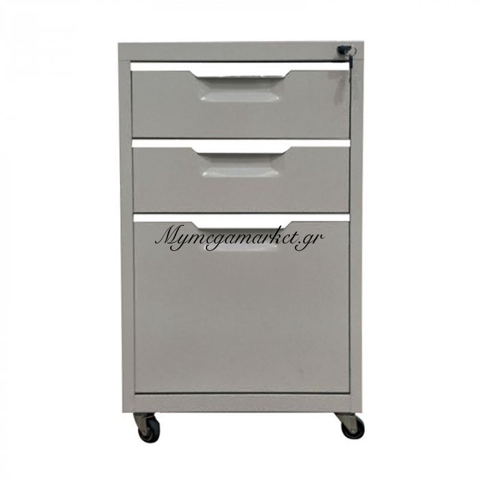 Συρταριέρα Μεταλλική 40X50X67Cm Γκρι | Mymegamarket.gr