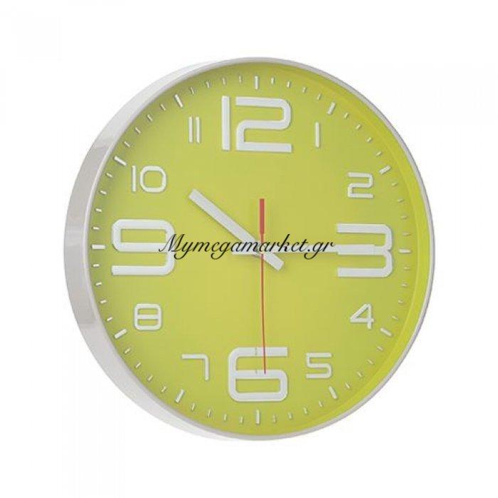 Ρολόι τοίχου πλαστικό γκρί - Λαχανί με τζάμι- Nava | Mymegamarket.gr