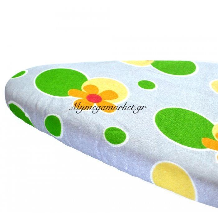 Σιδερόπανο με λάστιχο 100% βαμβακερό μεταλλιζέ με σχέδιο κύκλους πράσινους | Mymegamarket.gr