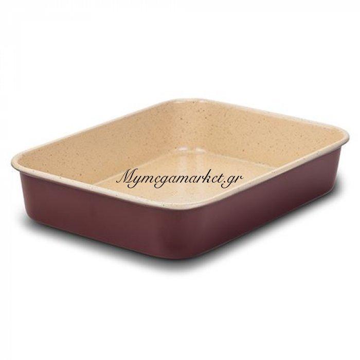 Ταψί ατσάλινο ορθογώνιο με κεραμική επίστρωση No 34 | Mymegamarket.gr