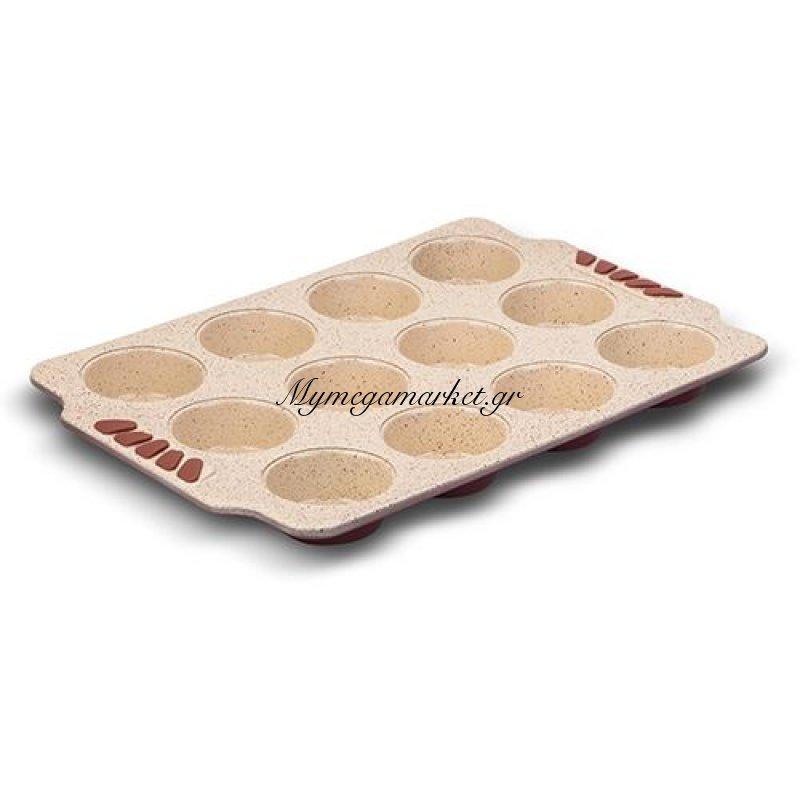 Ταψί για muffins ατσάλινο ορθογώνιο με κεραμική επίστρωση