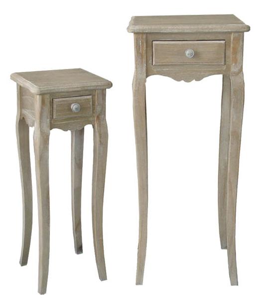 Τραπέζια βοηθητικά ξύλινα σέτ 2 τεμαχίων | Mymegamarket.gr