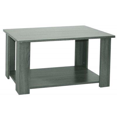 Τραπέζι σαλονιού ξύλινο Mdf με ράφι - Γκρί σκούρο