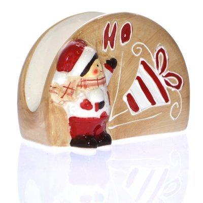 Χαρτοπετσετοθήκη πορσελάνινη - Χριστουγεννιάτικη HO