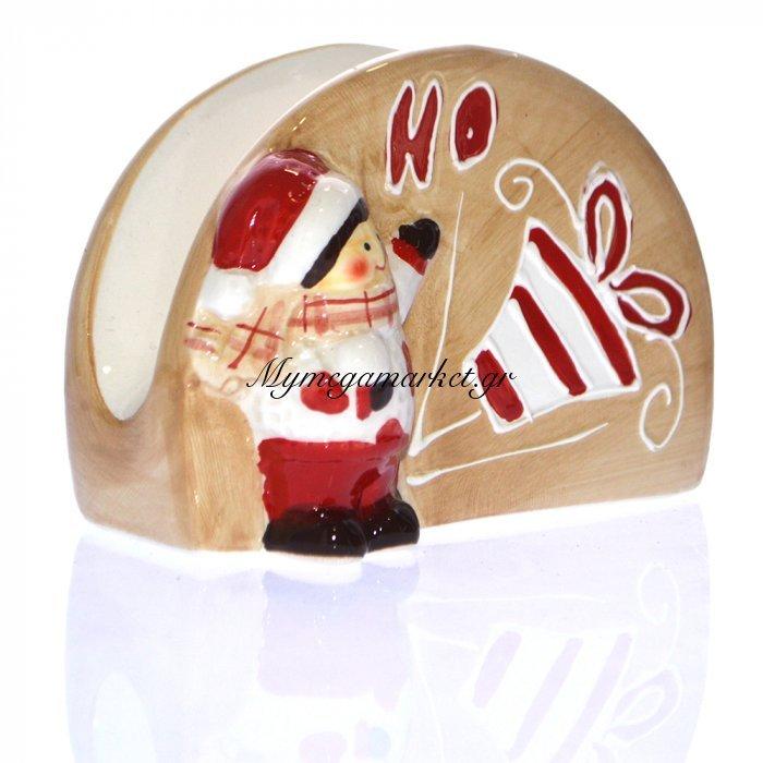 Χαρτοπετσετοθήκη πορσελάνινη - Χριστουγεννιάτικη HO | Mymegamarket.gr