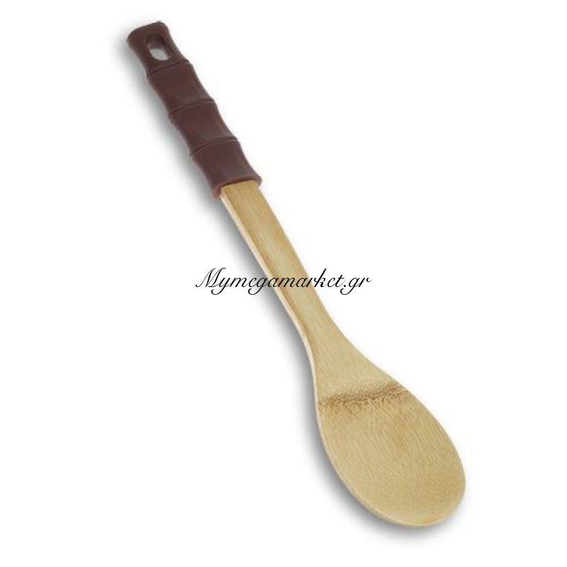 Κουτάλα ξύλινη με χερούλι σιλικόνης bamboo - Nava