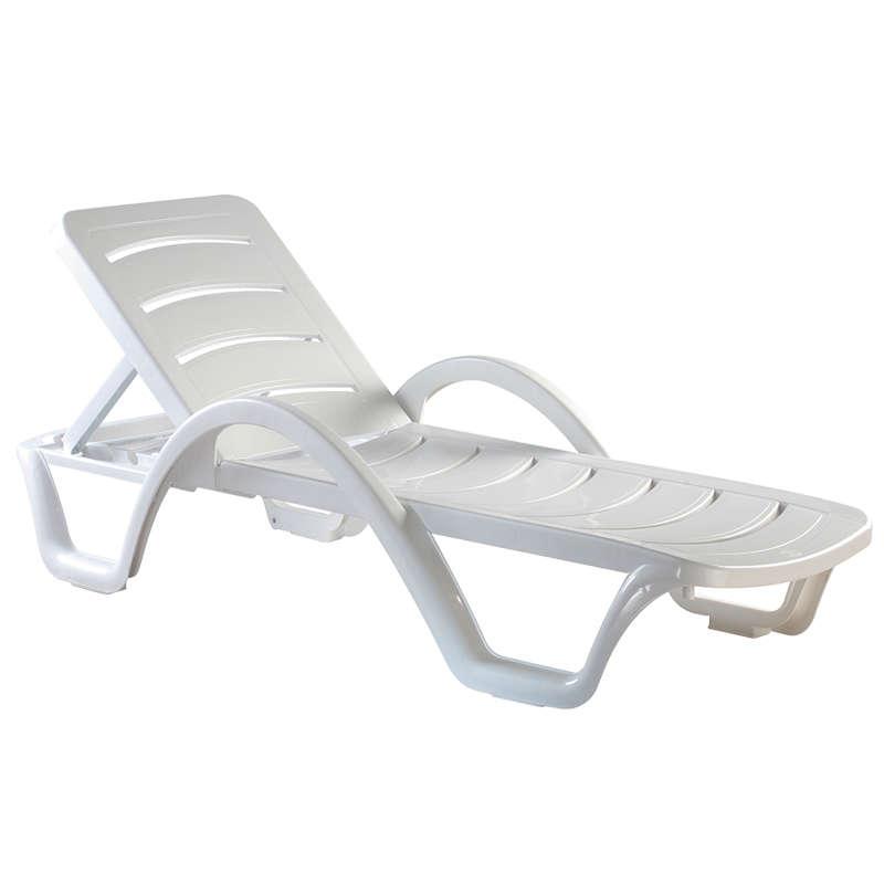 Havana Λευκή Ξαπλώστρα Πλαστική Στην κατηγορία Ξαπλώστρες - Καρέκλες παραλίας   Mymegamarket.gr