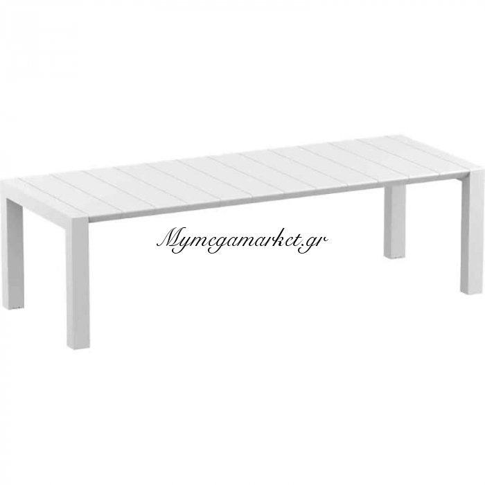 Vegas White 100X260/300Εκ. Επεκτ.τραπέζι Πολ/νιου   Mymegamarket.gr
